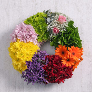Mix Flowers Sympathy Wreath
