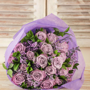 Playful Light Vintage Purples Roses