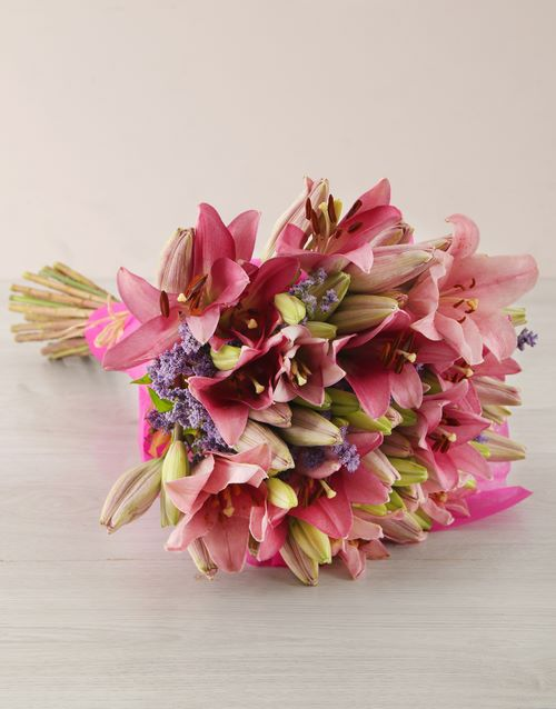 Pink Asiflorum Lily Bouquet