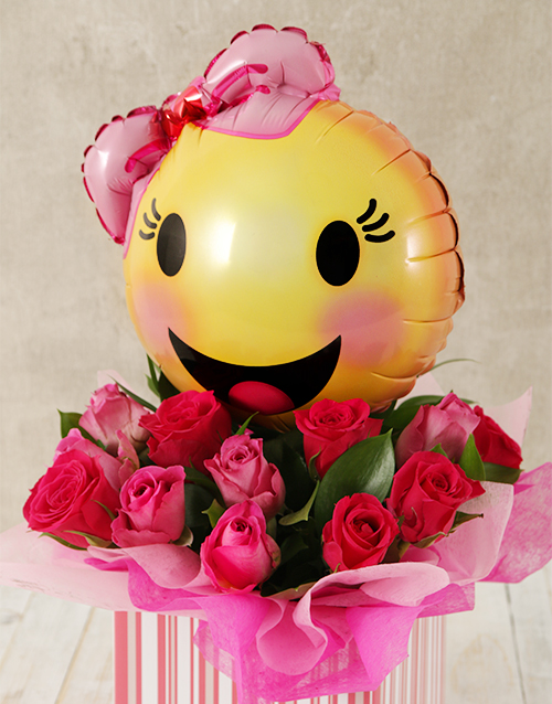 Pink Smiles and Roses Box
