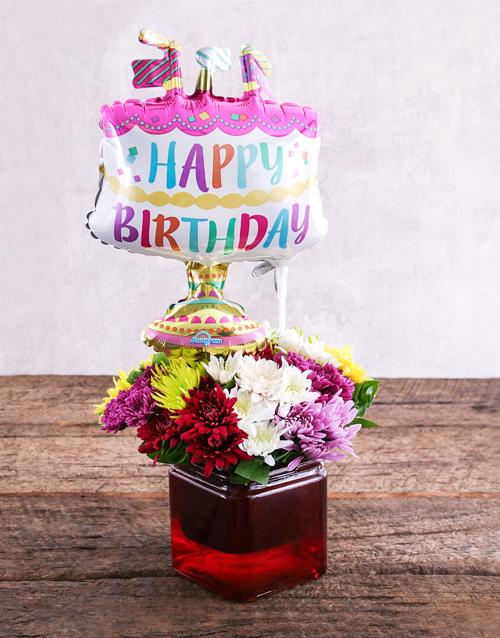 Birthday Cake Balloon and Sprays Gift