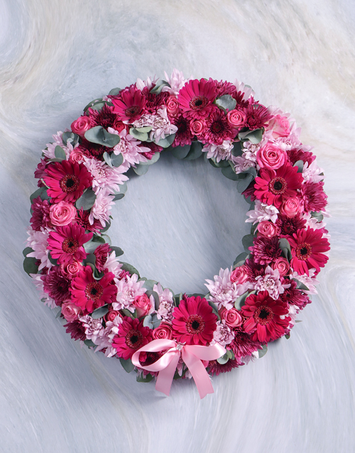 Pink and Purple Sympathy Wreath
