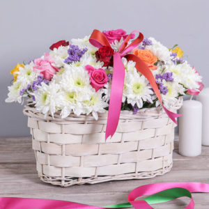 Mixed Sympathy Flower Basket