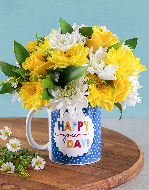 Happy You Day Flower Mug