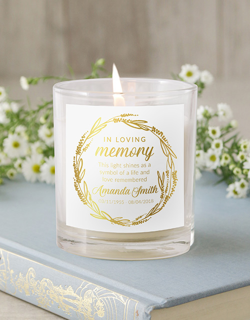 Personalised In Loving Memory Foiled Candle