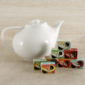 Carrol Boyes Swirl Teapot and Toni's Tea