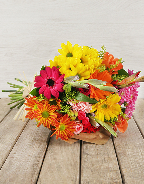 Vibrant Flower Gift Arrangment For Mother's Day