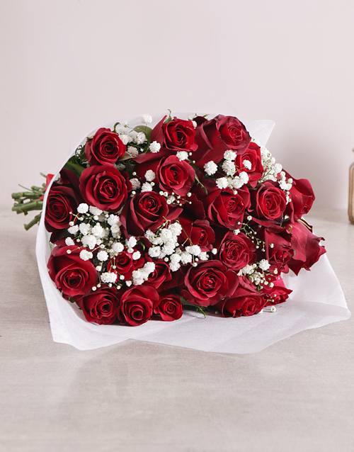 Red Rose Love Is Bouquet Original For Mother's Day