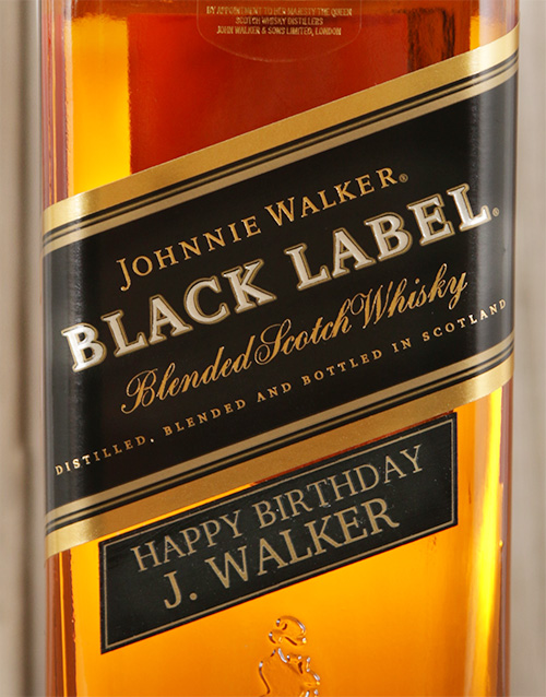 Personalised Johnnie Walker Black For Mother's Day