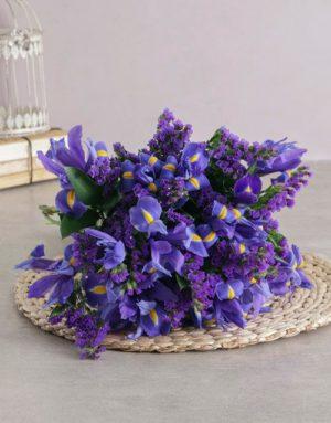 Bright and Beautiful Blue Iris Bouquet