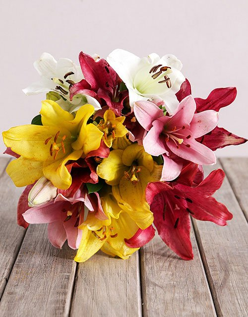 Assorted Lily Mix Bouquet