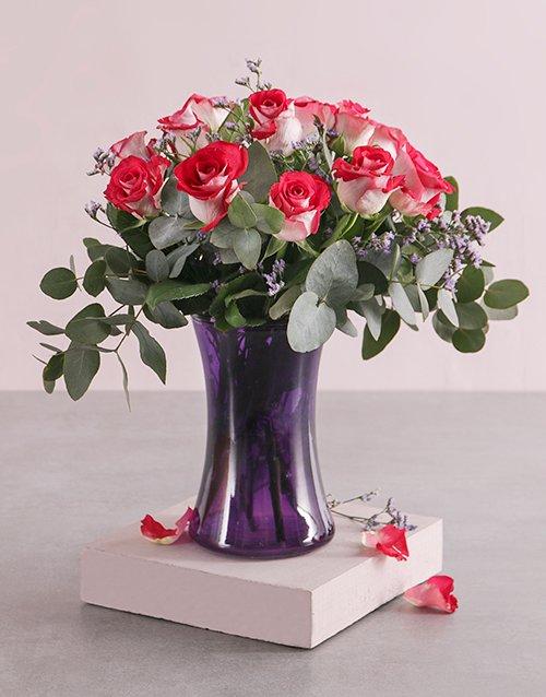 Majestic Roses in Vase