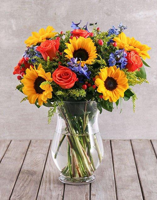 Mixed Sunflower Arrangement