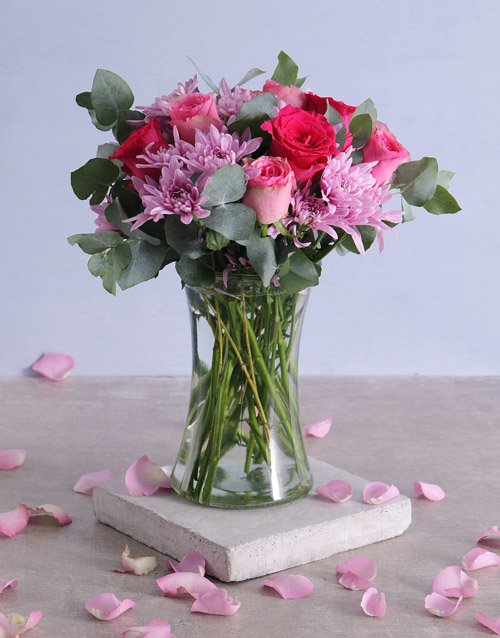 A Ray Of Pink Sunshine In A Vase