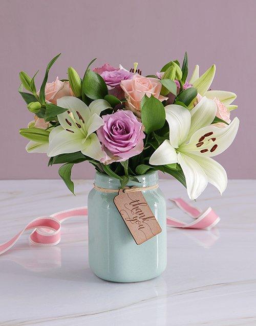 Mothers Day Rose Jar
