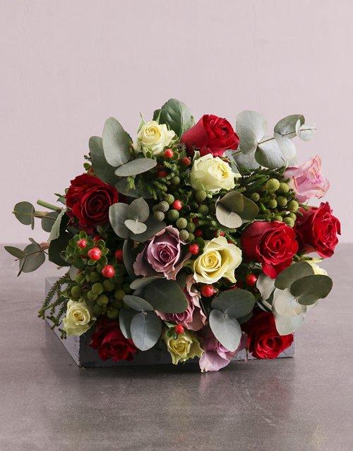 Enchanting Mixed Roses Blooms