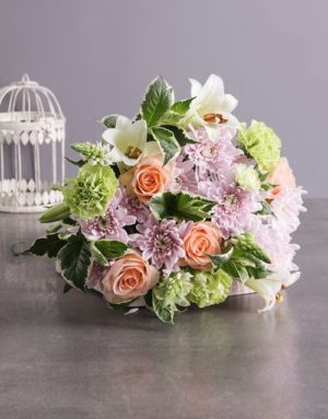 Peach and Pastel Mothers Day Bouquet