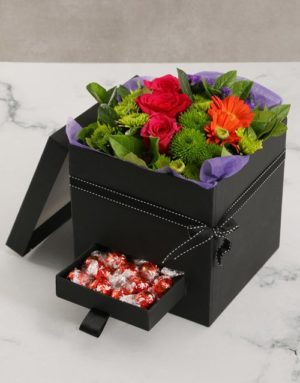 Beautiful Mothers Day Flowers and Lindt