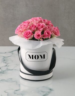 Paradisal Pink Roses Mothers Day Arrangement