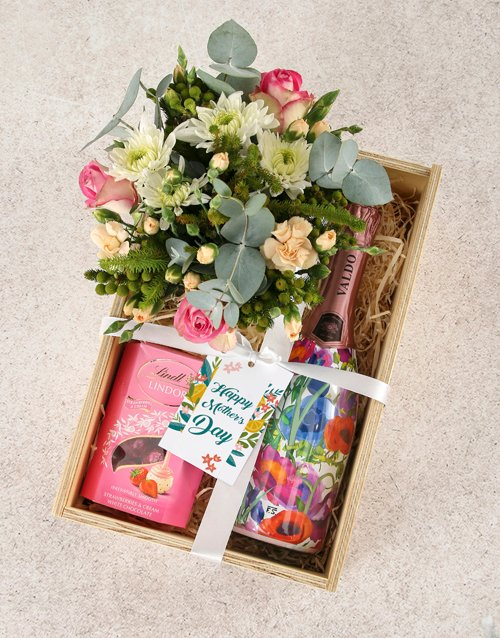 Whimsical Roses and Champagne Indulgence Crate