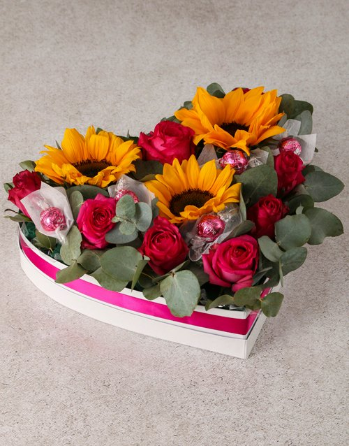 Special Sunflower Mothers Day Lindt Spoil