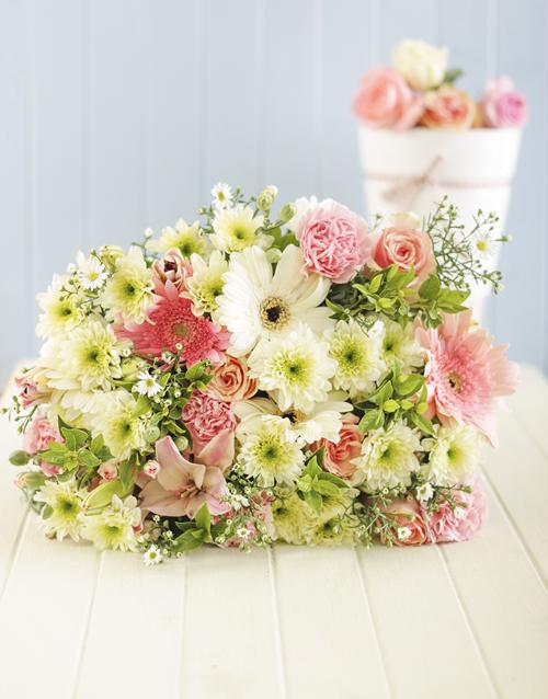 sympathy Pastel Flower Bouquet