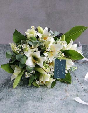 sympathy White Lily Sympathy Bouquet