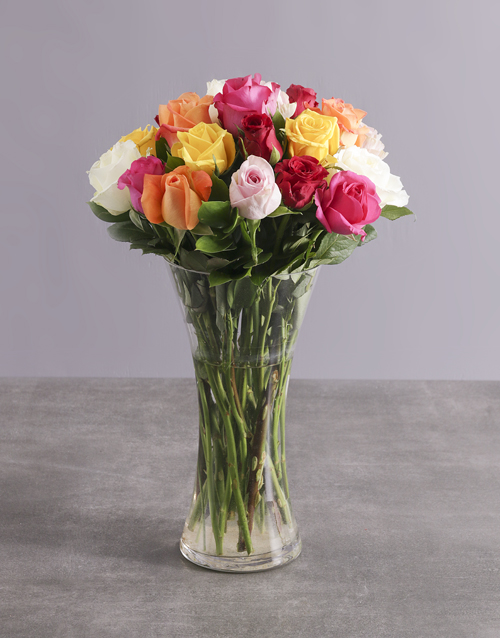 roses Mighty Mixed Rose Arrangement