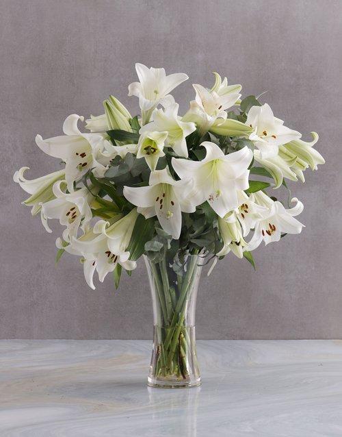 sympathy Elegant White Lilies