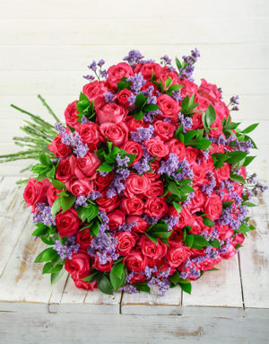 roses Shades of Cerise Pink Bouquet