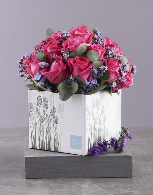 roses Lovely Cerise Rose Gift Box