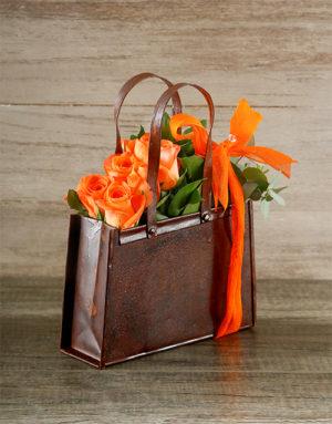 flowers Orange Rose Handbag