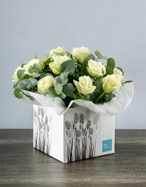 roses White Roses in Crafty Occasion Box