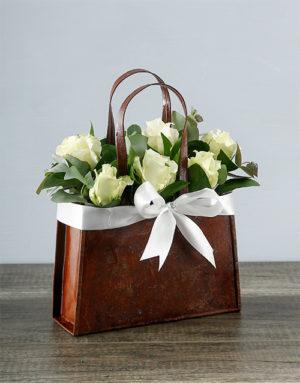 flowers White Rose Handbag