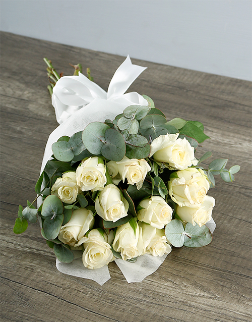 roses Bouquet of White Roses