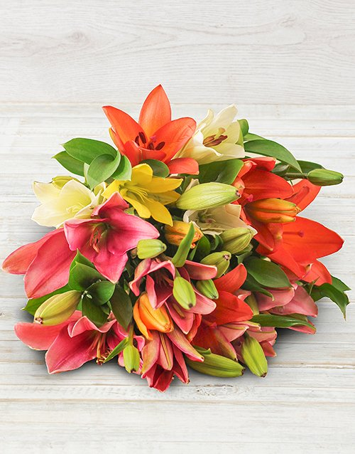 sympathy Lilies in Craft Paper