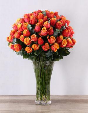 roses Cherry Brandy Supreme Flair Vase