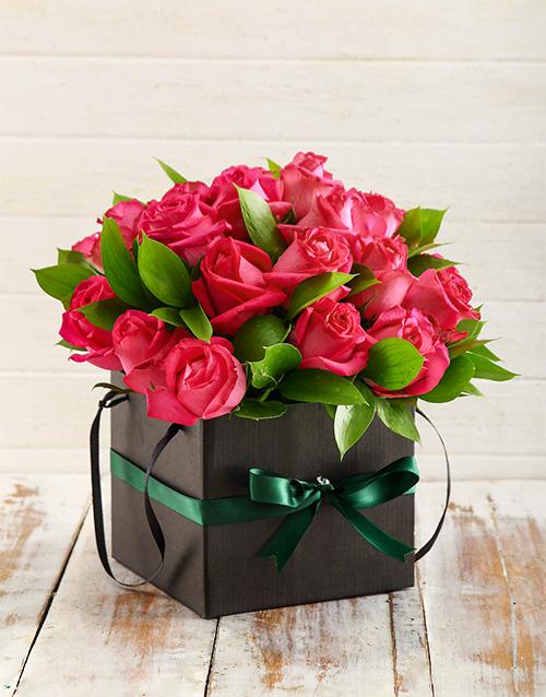 birthday Beautiful Box of Cerise Roses
