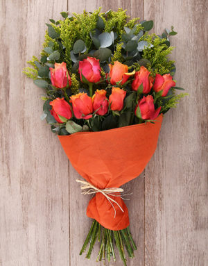 roses Mystical Cherry Brandy Roses Bouquet