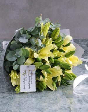 sympathy Lily Bouquet Of Condolences