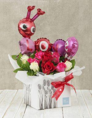 roses Caterpillar Love Box