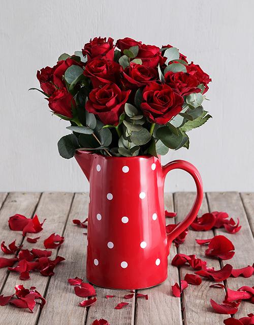 roses Freckled Red Rose Jug