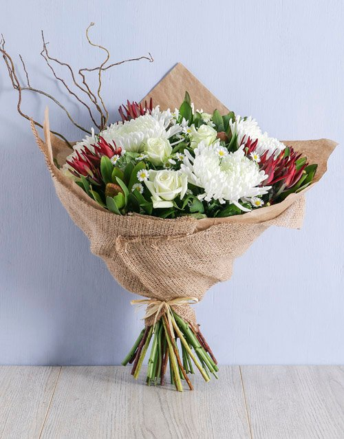 sympathy Rustic Mixed Bouquet