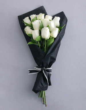 roses Pure White Rose Bouquet