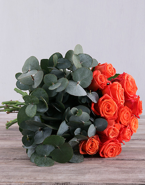 roses Fiery Orange Roses