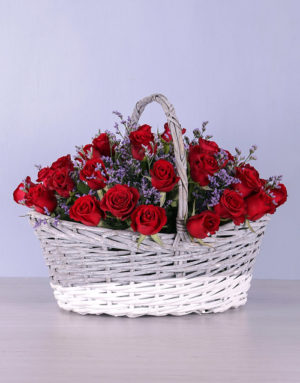 roses Basket of Red Roses