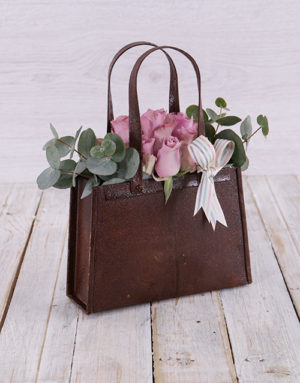 flowers Purple Rose Handbag