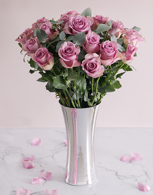 roses Light Purple Sensation Arrangement