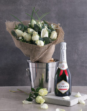 roses Bubbly and White Roses