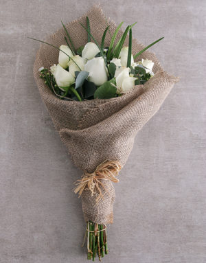 roses Dazzling White Rose Bouquet